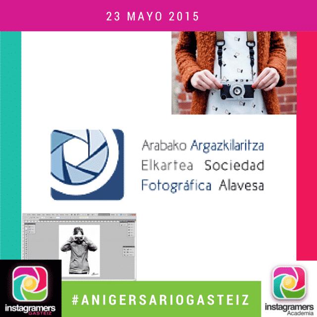 Aprende Fotografia Digital y Photoshop con la Sociedad Fotográfica Alavesa en el II #AnigersarioGasteiz
