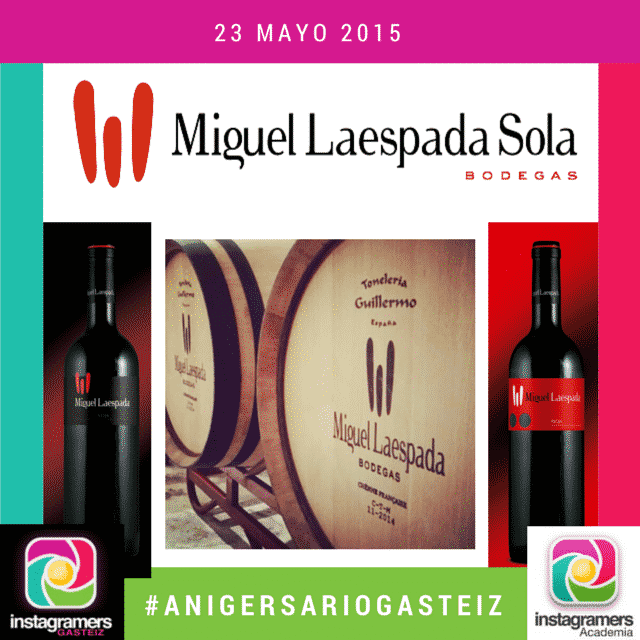 Bodegas Laespada pone color, olor y sabor en el II #AnIgersarioGasteiz