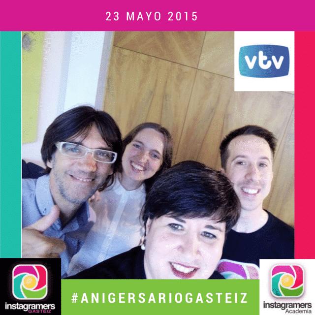 IgersGasteiz en VTV hablando del II #AnigersarioGasteiz